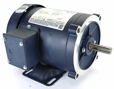 Leeson 116747 AC motor 2hp TEFC 1800 RPM 56c frame w/ base 230/460v MADE IN USA