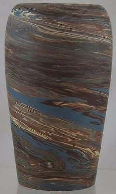 "NILOAK MISSION SWIRL ARTS and CRAFTS 6.25"" VASE MINT"