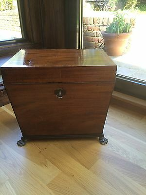 Superb Mahogany Regency Georgian Cellarette Wine Cooler c19 George III