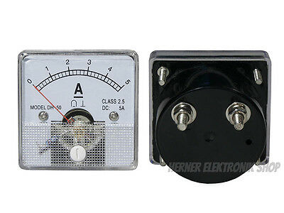0-15A DC Einbau Messinstrument Analog Amperemeter  47mm x 47mm