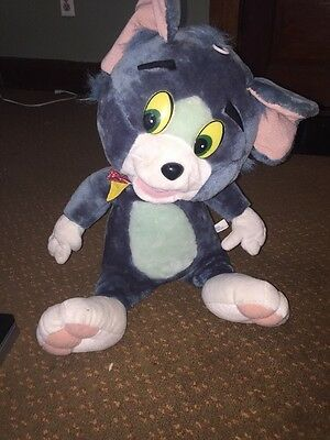 """Vintage TOM the Cat TOM & JERRY 16"""" Plush Stuffed Toy Doll SOFT THINGS VGC"""