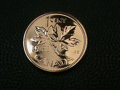 CANADA     1  Cent   1981    PROOF