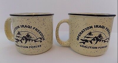 Lot Of 2 - Operation Iraqi Freedom - Coalition Forces Mugs/Cups Military