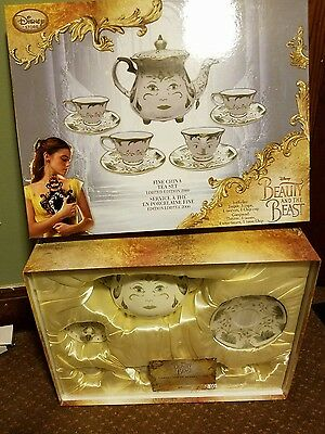 Disney Beauty and the Beast Live Action Fine China Tea Set Limited Edition # 27