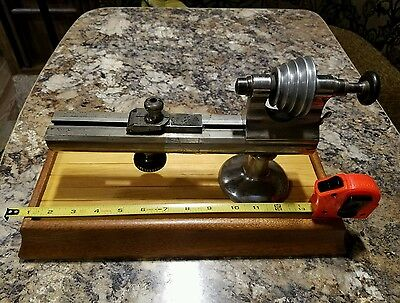 American Watch Tool Co /  Watchmaker's Jeweler's Lathe, Webster Whitcomb, 8mm