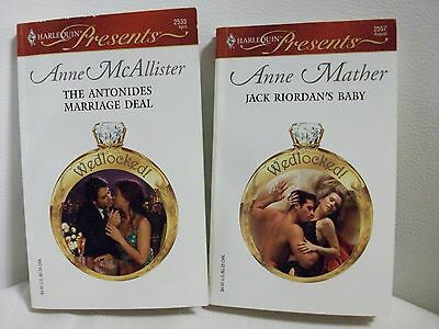 2 Harlequin Presents romances-Wedlocked! series by A. Mather/A. McAllister