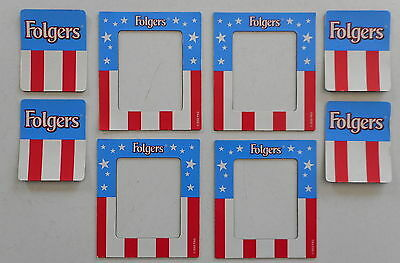 4 Folgers Coffee Advertising Flag Magnets 2002