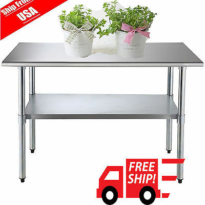 "24"" x 32"" Prep Table Commercial Stainless Steel Work Food Kitchen Restaurant USA"