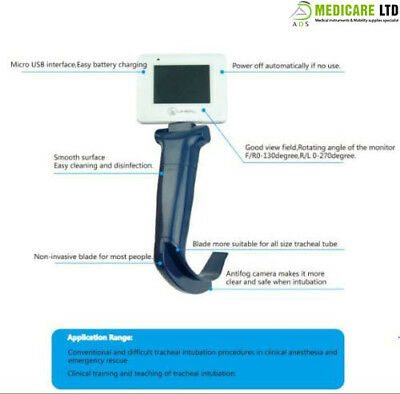Reusable Video Laryngoscope Anesthesia Difficult Airway Management Adult Blade 4