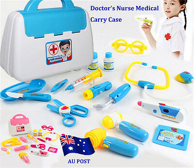 Pretended Doctor's Nurse Medical Carry Case Medical Role Play Set Kid Gift Toy E