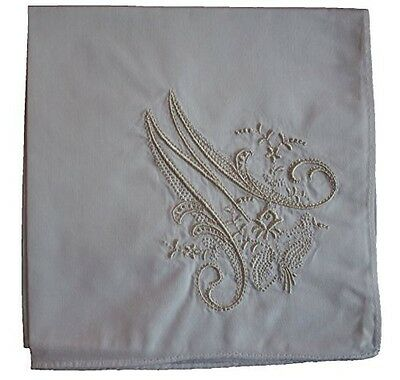 HANDKERCHIEF - LADIES HANDKERCHIEF with Monogram 3 Pack (M)