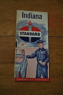 1950s Standard Oil Company Indiana Road Map Excellent++