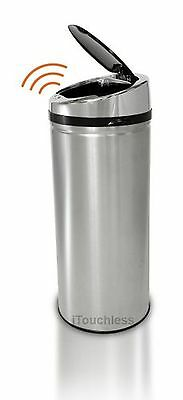 iTouchless IT08RCB 30-Litre Stainless Steel Sensor Touchless Trash Can NX