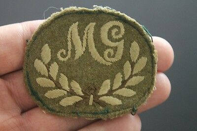WW2 South African MG patch Machine gun insignia removed from uniform