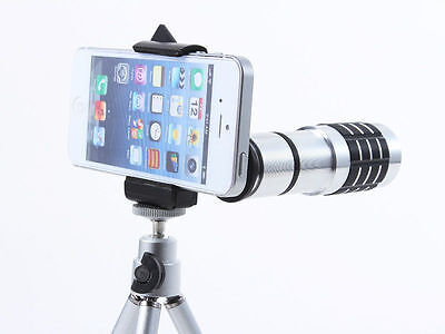 12X Zoom Universal Telephoto Telescope Camera Lens Kit + Tripod for Cell Phone