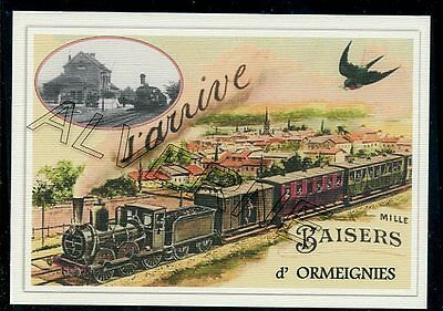 ORMEIGNIES  ....train  souvenir  creation moderne serie limitee numerotee