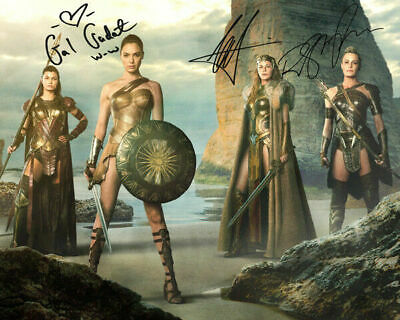Wonder Woman Gal Gadot Robin Wright Movie Cast Signed Photo Autograph Reprint