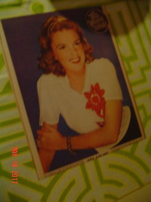 Rare Color REAL 8/10 inch photo JUDY GARLAND f/ Australian news paper 1941 MINT