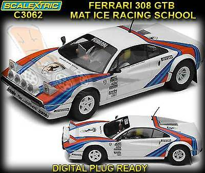 Scalextric C3062 Ferrari GTB Mat Ice Racing School  - with working lights