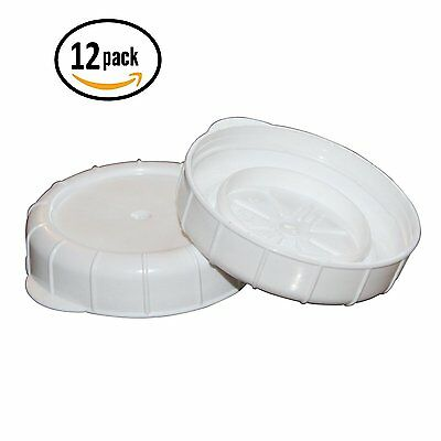Glass Milk Bottle Caps - 12 Pack - 48mm 1.89 inch Snap On Lids