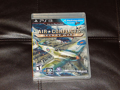New! Air Conflicts: Secret Wars Playstation 3 PS3 Flight Simulator Free Shipping