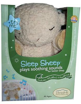 Cloud b Sleep Sheep On The Go Travel Soothing Sounds Plush Crib Baby Todler Toy