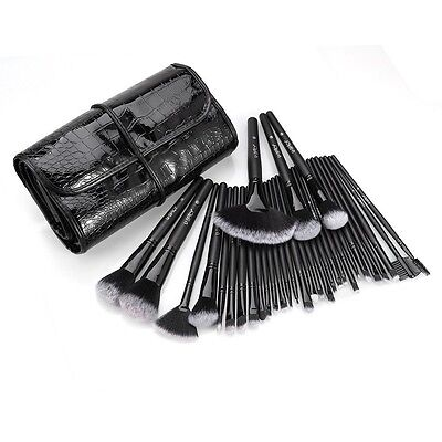 Make up Pinsel 32tlg Schmink Kosmetik Pinsel Lidschatten Gesichtspinsel /9-3914/