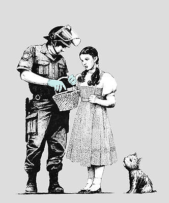 Banksy Dorothy Toto Wizard of Oz Poster A4 A3 A2 A1 Gift Present OC0145