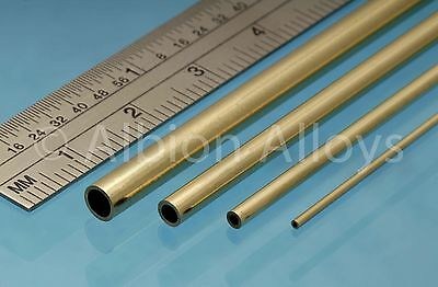 Albion Alloys Round Brass Tube 305 mm Length Scratch Building Detailing