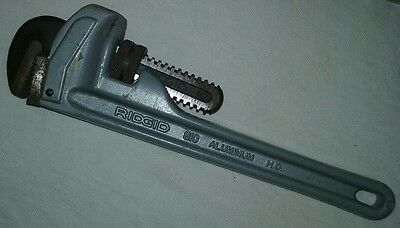 "NEW Ridgid 31090 10"" Aluminum Straight Handle Pipe Wrench"