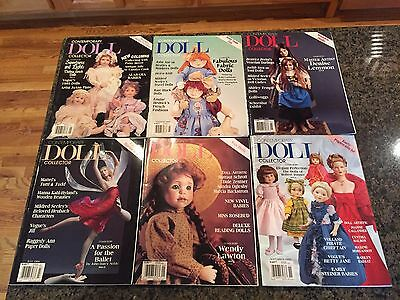 Contemporary Doll Magazine 1999 Lot of 6 Back Issues
