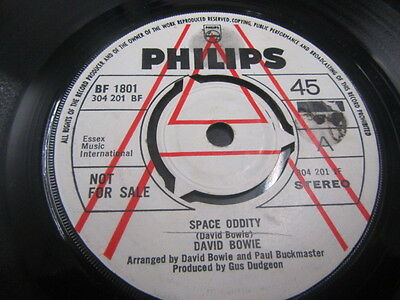 "David Bowie Space Oddity 7"" Uk 1St A Label Demo Philips Vg+"