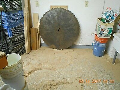 """Large Vintage Saw Mill Blade 44"""" Early 1900's"""