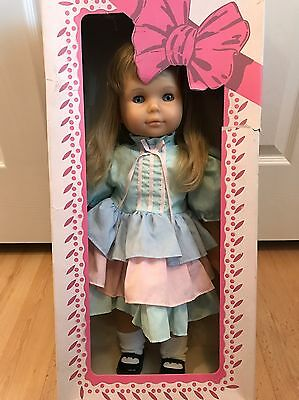 "Vintage Goetz Gotz Puppe 21"" Doll Blonde Hair Blue Eyes Collectible SIGNED w Box"