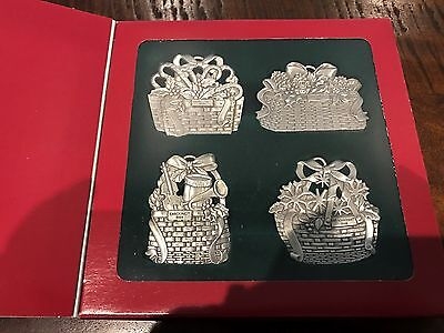 Longaberger Pewter Ornament set of 4 - NEW - in box - Free shipping!