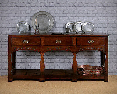 Antique Welsh Oak Potboard Dresser c.1780