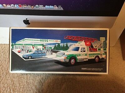 1994 Hess Rescue Truck in Box with All sirens & Lights That Work