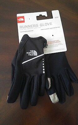 The North Face Unisex Runners Gloves, Style A94E, Black, LARGE