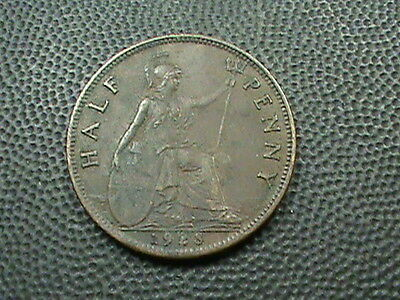 GREAT  BRITAIN    1/2  Penny   1928    XF