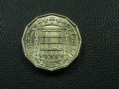 GREAT  BRITAIN     3  Pence    1965    BRILLIANT  UNCIRCULATED