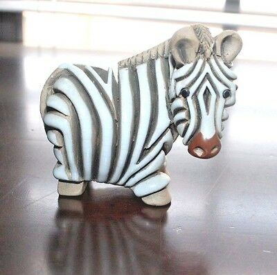 "Small Pottery ZEBRA 3D Design, 3"" x 3"""