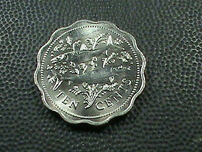 BAHAMAS    10  Cents    1980    BRILLIANT  UNCIRCULATED