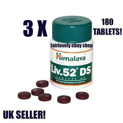 3 Jars x 60 Tablets Himalaya HERBAL Liv.52 Liver 52 DS DOUBLE STRENGTH UK SELLER