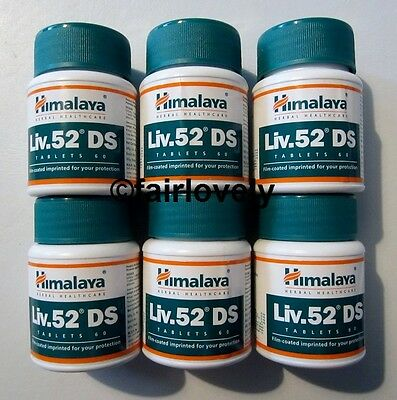 6 Jars x 60 Tablets Himalaya Liv.52 DS Liver 52 DS DOUBLE STRENGTH **UK SELLER**