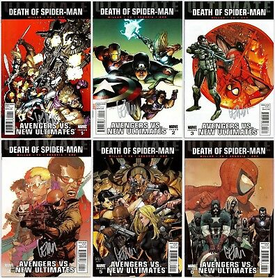Ultimate Avengers Vs. New Ultimates #1-6 Lot Signed By Leinil Yu Marvel Vf/nm