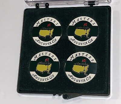 Masters golf ball marker 4 pack augusta national coin style 2019 masters new afd3a9c2f6d61