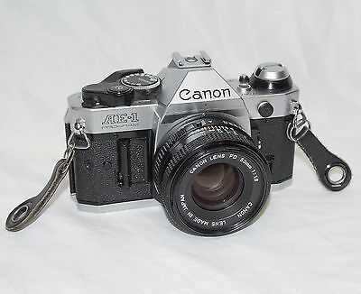 CANON AE-1 PROGRAM 35mm Film Manual Camera w 50mm 1.8 Lens - EXCELLENT CONDITION