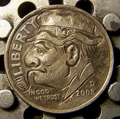 """Hobo Nickel, Engraved, Carved ,Scrimshaw,Coin Art, """"  Lumpy O`Leary ,  .. """""""