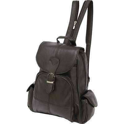 Embassy™ Solid Genuine Lambskin Leather Backpack LULBP2-1