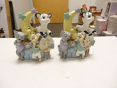 NURSERY BOOKENDS - COW JUMPED OVER THE MOON, HEY DIDDLE